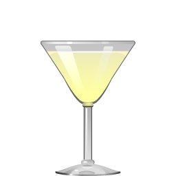 21st Century cocktail with tequila and creme de cacao