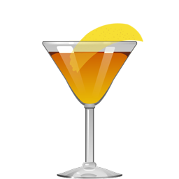 #8 cocktail with tequila, sherry, honey liqueur and orange bitters