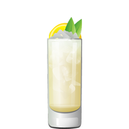 A Scented Stretch cocktail with white rum, elderflower liqueur, white wine, lemon juice, honey syrup, and sparkling water