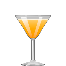Abbey cocktail with gin and orange juice