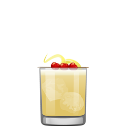 Amaretto Sour cocktail, with bourbon, amaretto, lemon juice and simple syrup