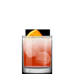 Americano cocktail with Campari and club soda