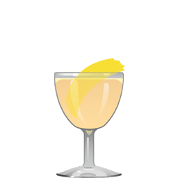 Analogue's Gin and Juice cocktail with vodka, marachino, citrus juice, and bitters