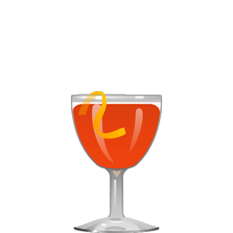 Aperol Sour cocktail with Aperol, gin, lemon juice, and simple syrup