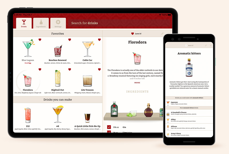 Cocktail Party app on tablets and phones