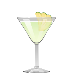 Apple Daiquiri cocktail with light rum, lime juice, apple liqueur, and simple syrup