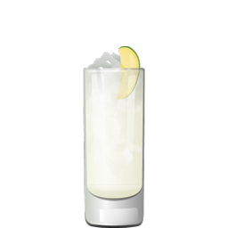 Apple Gin Fizz cocktail with fresh apple, gin, lemon juice, simple syrup, egg white and sparkling water