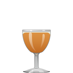Applejack Rabbit cocktail with apple brandy, lemon juice, orange juice, and maple syrup