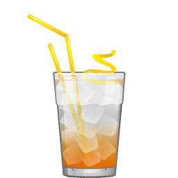 Apricot Fizz cocktail with apricot liqueur and club soda