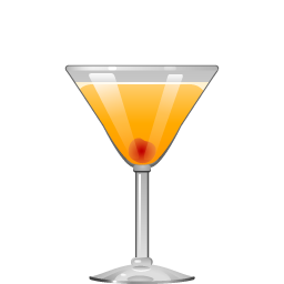 Apricot Sour cocktail with apricot liqueur and lemon juice