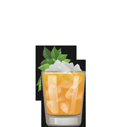 Artichoke Hold with aged rum, artichoke amaro (Cynar), elderflower liqueur (St. Germain), lime juice, and orgeat