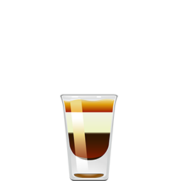 B-52 shot cocktail with Irish cream and coffee liquer