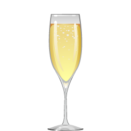 B9 cocktail with sparkling wine and peach liqueur