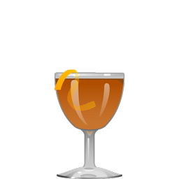 Bamboo cocktail with dry sherry, dry vermouth, simple syrup, Angostura bitters, and orange bitters