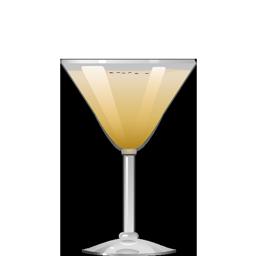 Banana Alexander cocktail with banana liqueur and creme de cacao