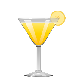 Banana Daiquiri cocktail with aged rum, banana liqueur, lime juice, and simple syrup