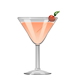 Bermuda Rose cocktail with gin, sweet vermouth, apricot liqueur, and grenadine