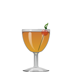 Bijou cocktail with gin, sweet vermouth, green Chartreuse, and Angostura bitters