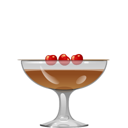 Black Jack cocktail with cognac, kirsch, coffee, and Demerara syrup
