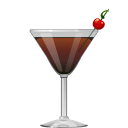 Black Manhattan Cocktail Party