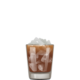 Black Russian cocktail with vodka and coffee liqueur