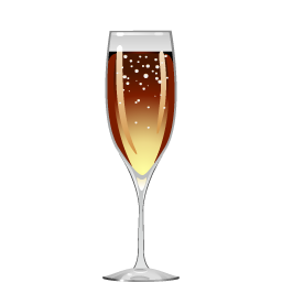 Black Velvet cocktail with sparkling white wine and stout beer
