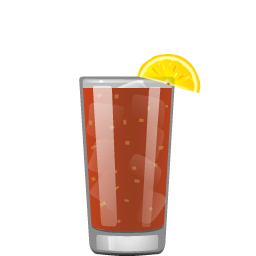 Bloody Bull cocktail with vodka, tomato juice, beef broth, lemon juice, celery salt, black pepper, horseradish, Worcestershire sauce, and hot sauce