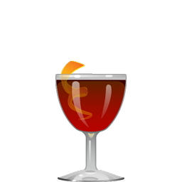 Boulevardier cocktail with bourbon, Campari, and sweet vermouth