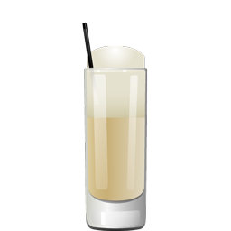 Bourbon Lift cocktail with bourbon, orgeat, heavy whipping cream, coffee liqueur, and sparkling water