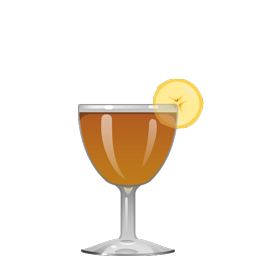 Bourbon's Foster cocktail with bourbon, spiced rum, banana liqueur, simple syrup, and Angostura bitters