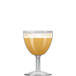 Brandy Flip cocktail with brandy, a whole egg, simple syrup, and nutmeg