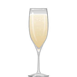 Brasserie Lebbe cocktail with pear brandy, vanilla liqueur, lemon juice, and sparkling white wine