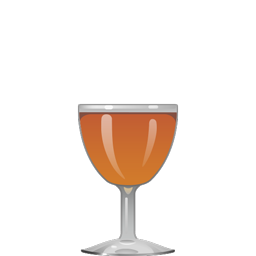 Brooklyn cocktail with rye whiskey, dry vermouth, maraschino, and orange amaro