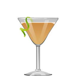 Brooklynite cocktail with aged rum, honey syrup, lime juice, and Angostura bitters