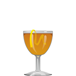 Burnt Fuselage cocktail with cognac, Grand Marnier, and dry vermouth