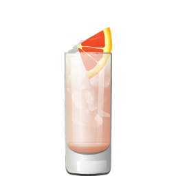 Candice cocktail with gin, elderflower liqueur, grapefruit juice, lime juice, simple syrup and club soda