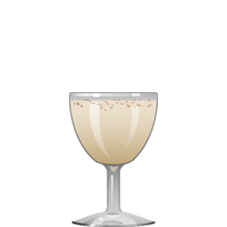 Caribbean Milk Punch with dark rum, bourbon, vanilla syrup, and heavy cream