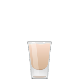 China White cocktail with vodka, Irish cream, and creme de cacao