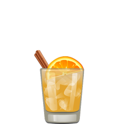 Cinnamon Girl cocktail with orange wedges, aged tequila, funky Jamaican rum, lime juice, cinnamon syrup, simple syrup, and orange bitters