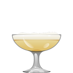 Conquistador cocktail with rum, blanco tequila, simple syrup, lemon juice, lime juice, orange bitters, and egg white