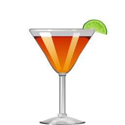 Derby cocktail with bourbon and lime juice