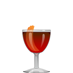 Destroyer cocktail with tequila, Dubonnet, blood orange liqueur, mole bitters, and peel of lime and blood orange