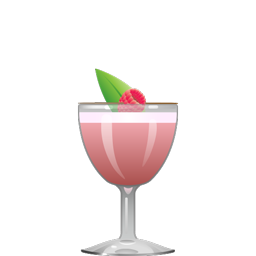 The Drive cocktail with gin, lemon juice, simple syrup, raspberry preserves or puree, basil leaves, and egg white
