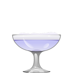 Eagle's Dream cocktail with creme de violette and egg white