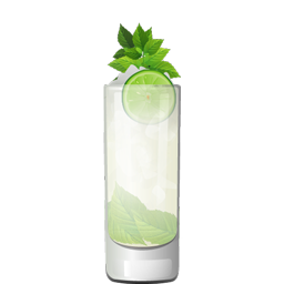 El Pequeño's Mojito with mint leaves, mint syrup, light rum, lime juice, and sparkling water