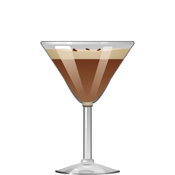 Espresso Martini with vodka and coffee liqueur
