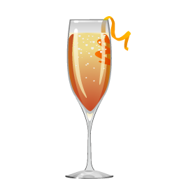 Esquivel cocktail with coffee liqueur and sparkling wine