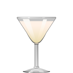 Fifth Avenue cocktail with cream and apricot liqueur