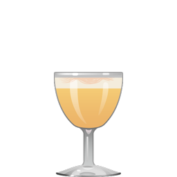Filibuster cocktail with rye whiskey, lemon juice, maple syrup, egg white, and Angostura bitters