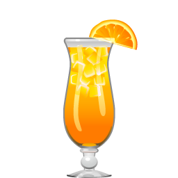 Fuzzy Navel cocktail with vodka and peach liqueur